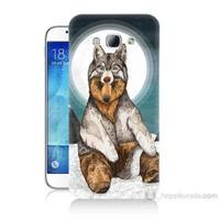 Teknomeg Samsung Galaxy A8 Postlu Ayı Baskılı Silikon Kılıf