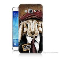 Teknomeg Samsung Galaxy A8 Kötü Tavşan Baskılı Silikon Kılıf