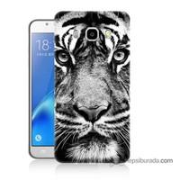 Teknomeg Samsung J5 2016 Kapak Kılıf Kaplan Baskılı Silikon