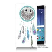 Teknomeg Samsung Galaxy Note 5 Kılıf Kapak Düş Kapanı Baskılı Silikon