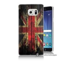 Teknomeg Samsung Galaxy Note 5 Kapak Kılıf İngiliz Bayrağı Baskılı Silikon