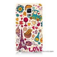 Teknomeg Samsung Galaxy Note Edge Kapak Kılıf Paris Love Baskılı Silikon