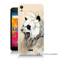 Teknomeg Casper Via V3 Kapak Kılıf Kavgacı Panda Baskılı Silikon