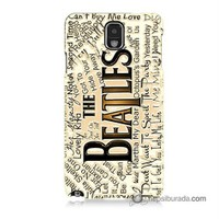 Teknomeg Samsung Galaxy Note 3 Kılıf Kapak The Beatles Baskılı Silikon