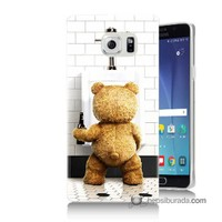 Teknomeg Samsung Galaxy Note 5 Kılıf Kapak Tedy Bear Baskılı Silikon