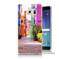 Teknomeg Samsung Galaxy Note 5 Kılıf Kapak Sokak Baskılı Silikon