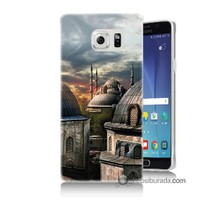 Teknomeg Samsung Galaxy Note 5 Kapak Kılıf Cami Baskılı Silikon