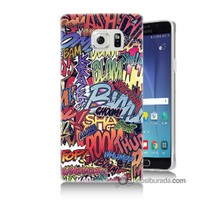 Teknomeg Samsung Galaxy Note 5 Kılıf Kapak Efekt Baskılı Silikon