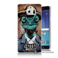 Teknomeg Samsung Galaxy Note 5 Kılıf Kapak İguana Adam Baskılı Silikon