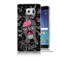 Teknomeg Samsung Galaxy Note 5 Kılıf Kapak The Birds Baskılı Silikon