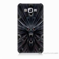 Teknomeg Samsung Galaxy E7 Korku Canavarı Baskılı Silikon Kılıf