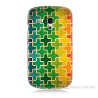 Teknomeg Samsung Galaxy S3 Mini Renkli Artı Baskılı Silikon Kılıf