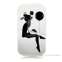 Teknomeg Samsung Galaxy S3 Mini Balonlu Kız Baskılı Silikon Kılıf