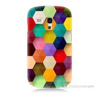Teknomeg Samsung Galaxy S3 Mini Renkli Petek Baskılı Silikon Kılıf