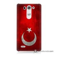 Teknomeg Lg G3 Mini Kılıf Kapak Türkiye Bayrağı Baskılı Silikon