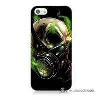 Teknomeg İphone 5S Kapak Kılıf Ölüm Maskesi Baskılı Silikon