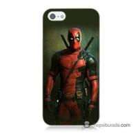 Teknomeg İphone 5S Kapak Kılıf Deadpool Baskılı Silikon