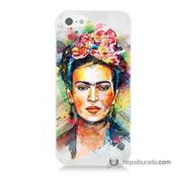 Teknomeg İphone 5 Kapak Kılıf Frida Baskılı Silikon
