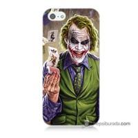 Teknomeg İphone 5 Kılıf Kapak Kartlı Joker Baskılı Silikon