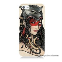 Teknomeg İphone 5 Kapak Kılıf Pocahontas Baskılı Silikon