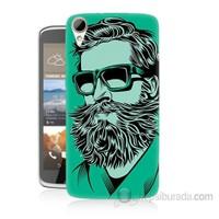 Teknomeg Htc Desire 828 Beard Art Baskılı Silikon Kapak Kılıf