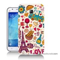 Teknomeg Samsung Galaxy J5 Kapak Kılıf Paris Love Baskılı Silikon