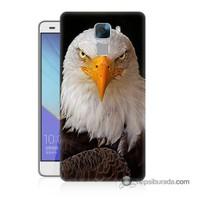 Teknomeg Huawei Honor 7 Kapak Kılıf Kartal Baskılı Silikon