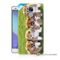 Teknomeg Huawei Honor 7 Kapak Kılıf Sevimli Köpek Baskılı Silikon
