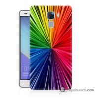 Teknomeg Huawei Honor 7 Kapak Kılıf Renkler Baskılı Silikon