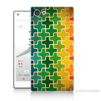 Teknomeg Sony Xperia Z5 Premium Renkli Artı Baskılı Silikon Kılıf