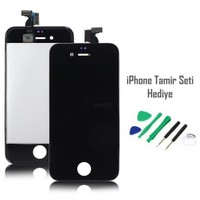 iPhone 4 Siyah Ekran Lcd Tamir Seti Hediyeli