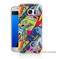 Teknomeg Samsung Galaxy S7 Kapak Kılıf Gitar Baskılı Silikon