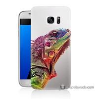 Teknomeg Samsung Galaxy S7 Kapak Kılıf İguana Baskılı Silikon