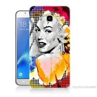Teknomeg Samsung Galaxy J7 2016 Kapak Kılıf Marilyn Monroe Baskılı Silikon