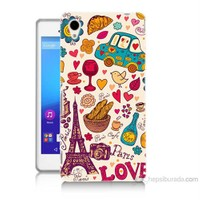 Teknomeg Sony Xperia M4 Aqua Paris Love Baskılı Silikon Kılıf