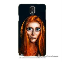 Teknomeg Samsung Galaxy Note 3 Kılıf Kapak Zombie Kız Baskılı Silikon