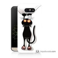 Teknomeg Lg G5 Kılıf Kapak Kara Kedi Baskılı Silikon