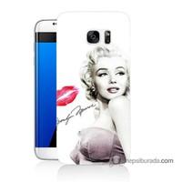 Teknomeg Samsung Galaxy S7 Edge Kapak Kılıf Marilyn Monroe Baskılı Silikon