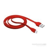 Trust Urbanrevolt 20137 Micro USB Universal Şarj Kablosu 1M. Kırmızı