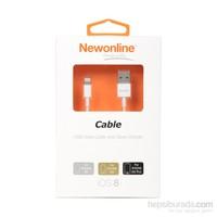 Newonline iPhone6/6 Plus/5/5s USB Data ve Şarj Kablosu - (NW-IP6-KB)