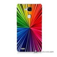 Teknomeg Huawei Mate 7 Kapak Kılıf Renkler Baskılı Silikon