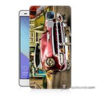 Teknomeg Huawei Honor 7 Kapak Kılıf Klasik Araba Baskılı Silikon