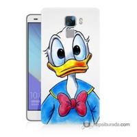 Teknomeg Huawei Honor 7 Kapak Kılıf Donald Duck Baskılı Silikon