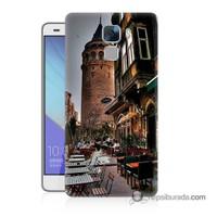 Teknomeg Huawei Honor 7 Kapak Kılıf Galata Kulesi Baskılı Silikon