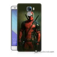 Teknomeg Huawei Honor 7 Kapak Kılıf Deadpool Baskılı Silikon
