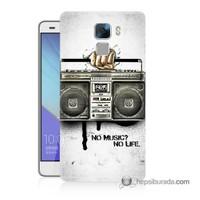 Teknomeg Huawei Honor 7 Kapak Kılıf Müzik Hayattır Baskılı Silikon