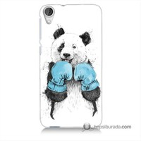 Teknomeg Htc Desire 820 Kılıf Kapak Boksör Panda Baskılı Silikon