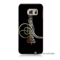 Teknomeg Samsung Galaxy S6 Kılıf Kapak Tuğra Osmanlı Baskılı Silikon