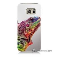 Teknomeg Samsung Galaxy S6 Kapak Kılıf İguana Baskılı Silikon