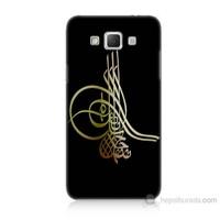 Teknomeg Samsung Galaxy Grand Max Tuğra Osmanlı Baskılı Silikon Kılıf